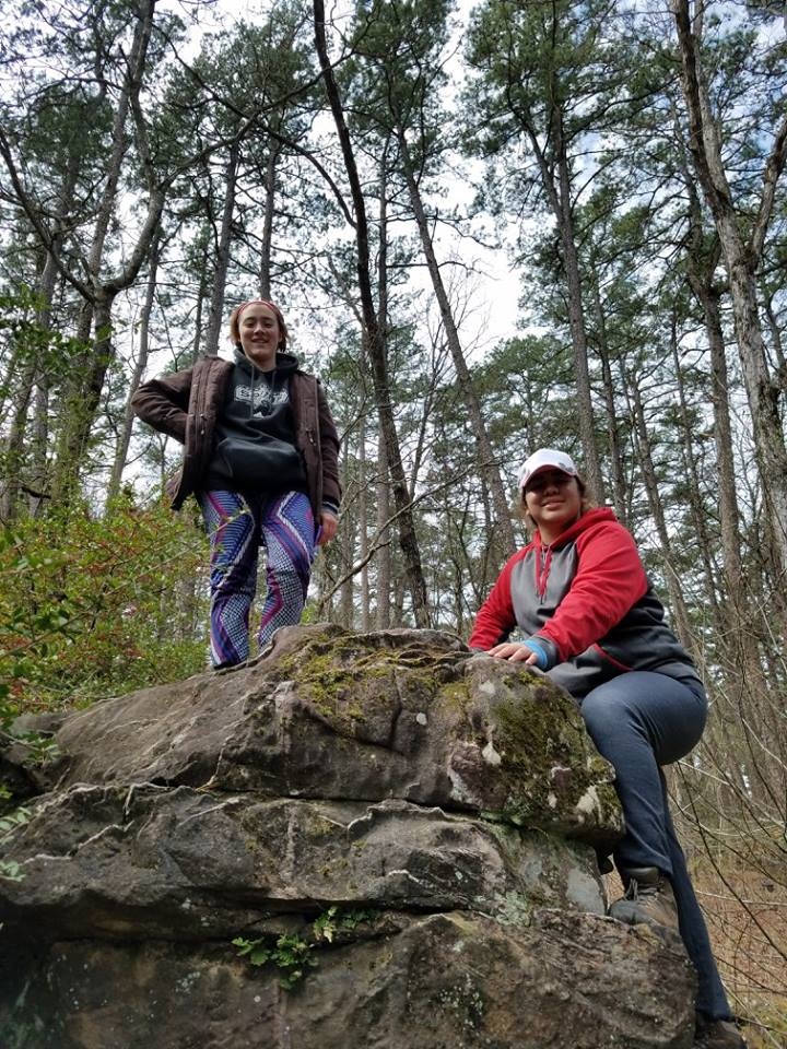 Youth Leader Raina and Sierra in Arkansas