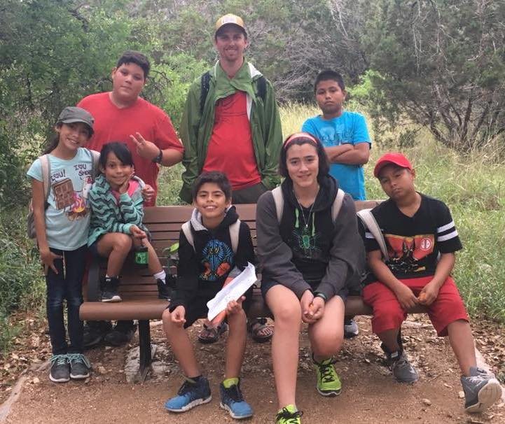 Youth Leader Raina with our Lexington and La Armada Programs at Government Canyon