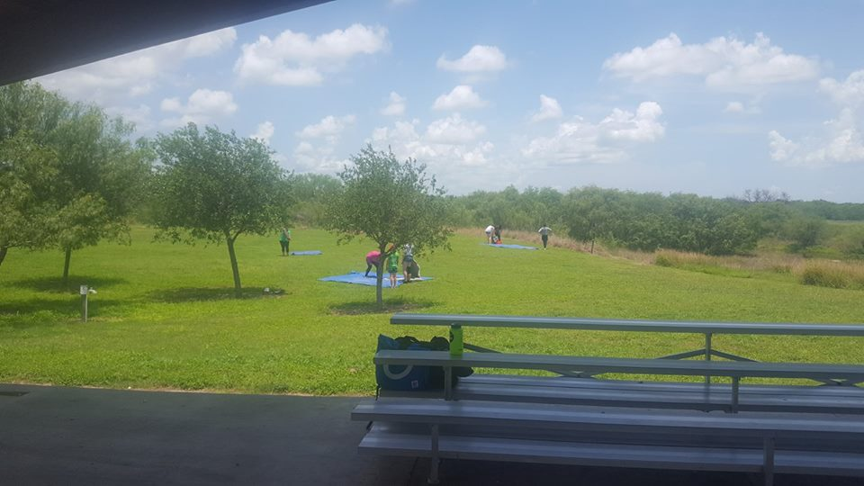 Summer leaderships camps setting up tents