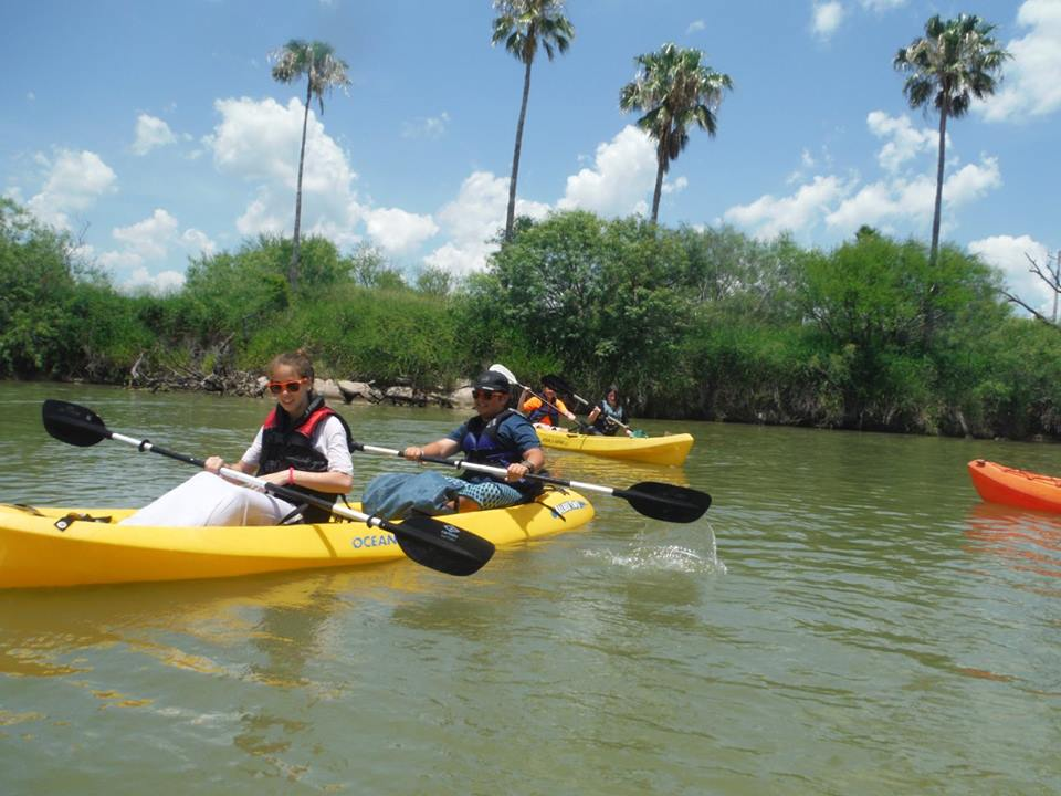 Summer leaderships camps youth kayaking on the nueces river