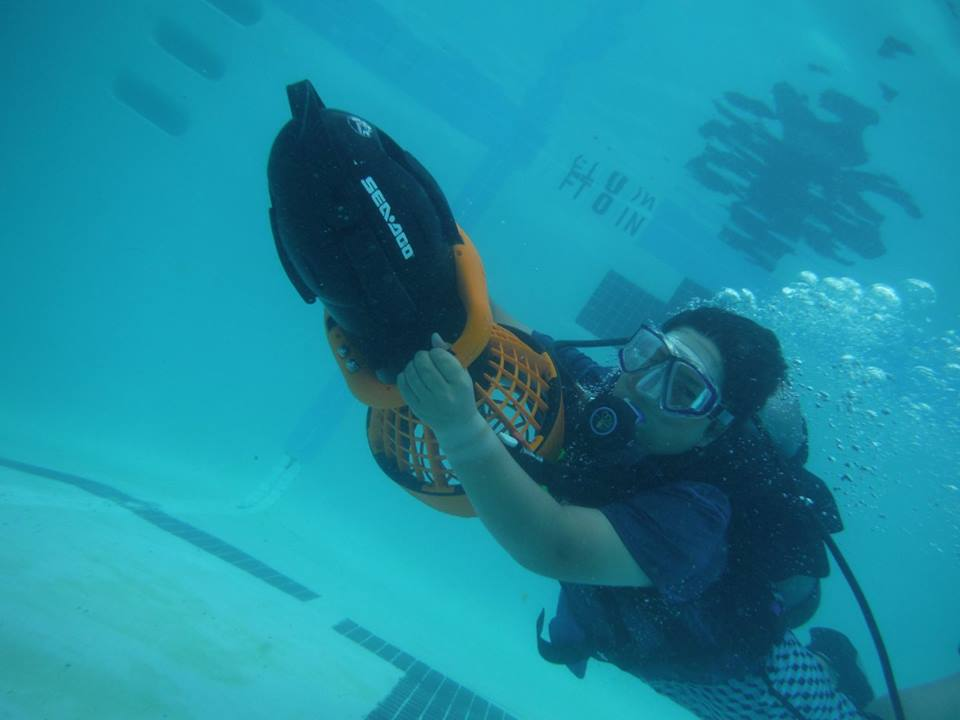 Summer leaderships camps young man scuba diving