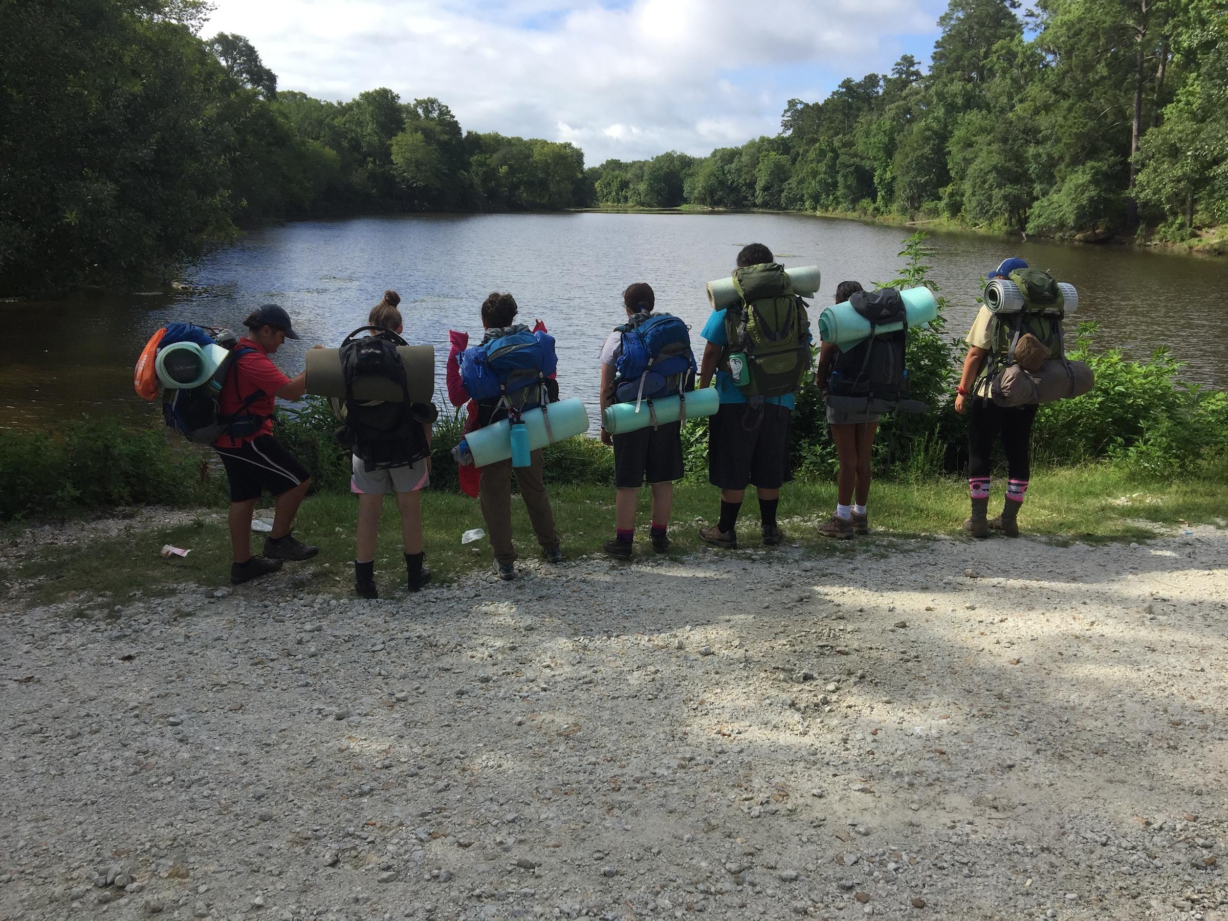 Backpacking around Lake Conroe