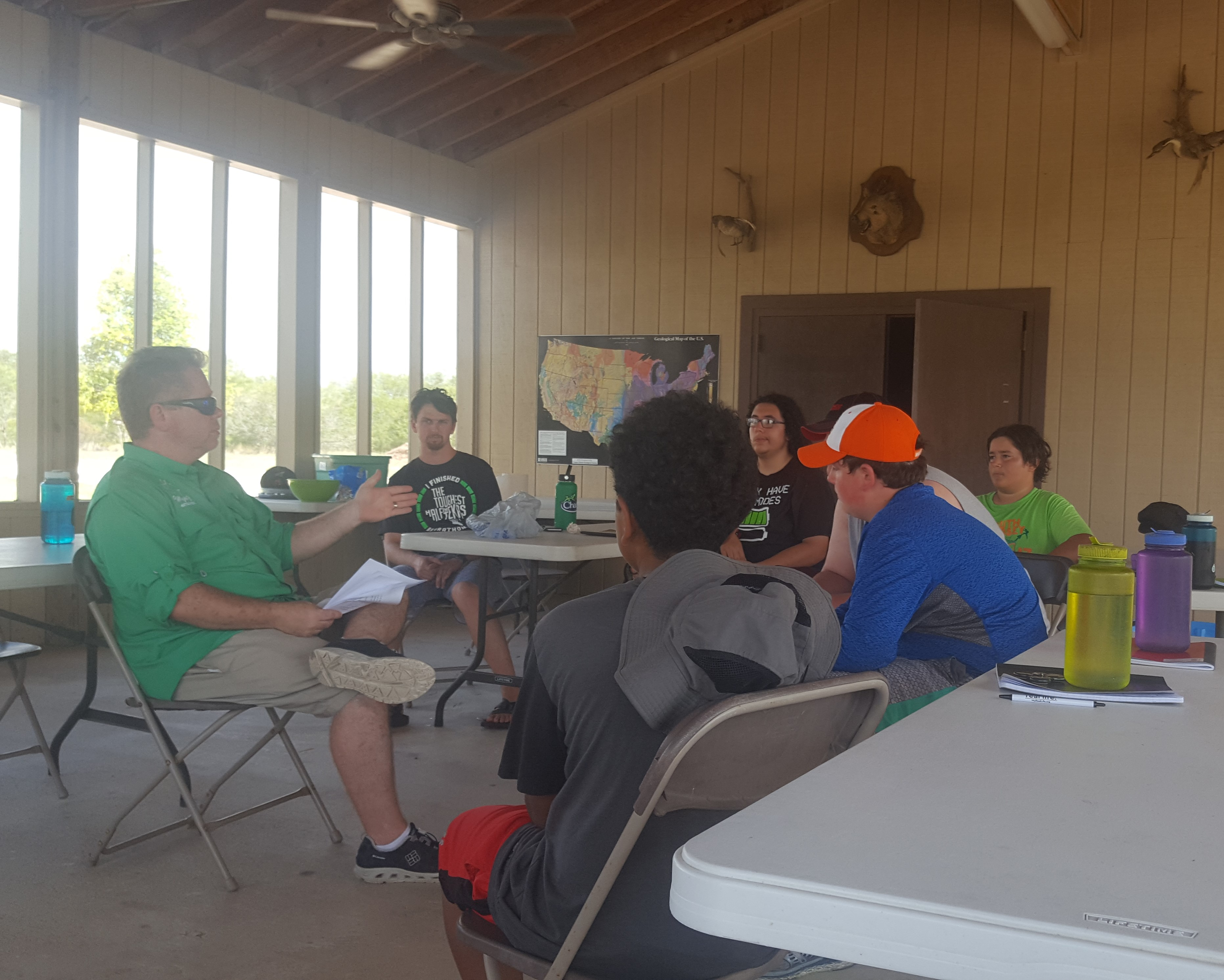Terry giving speech to our OutdoorsMEN