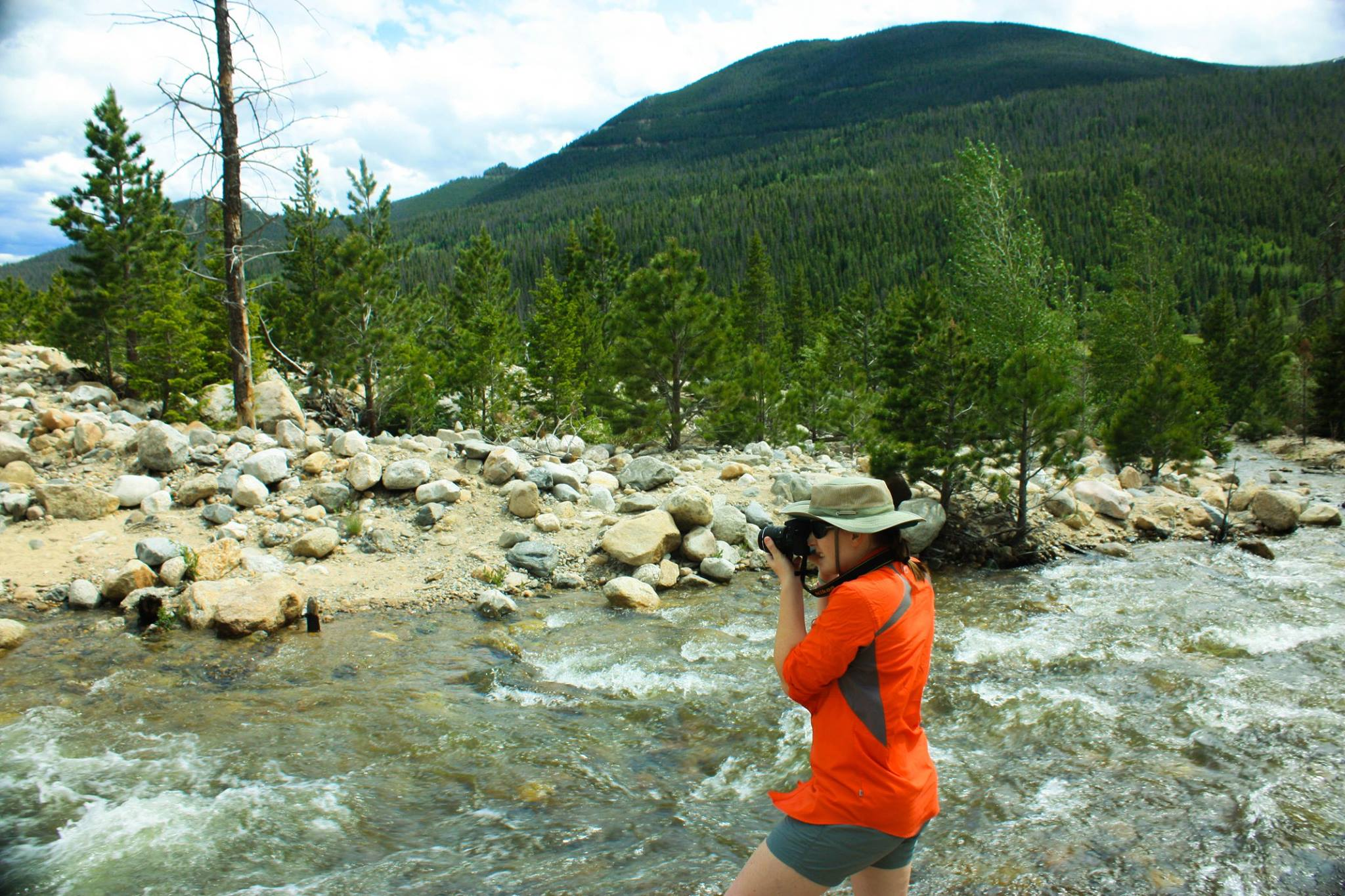 Kelsie doing some nature photography