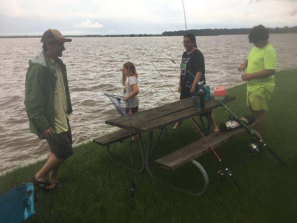Anglers at Martin Dies Jr.