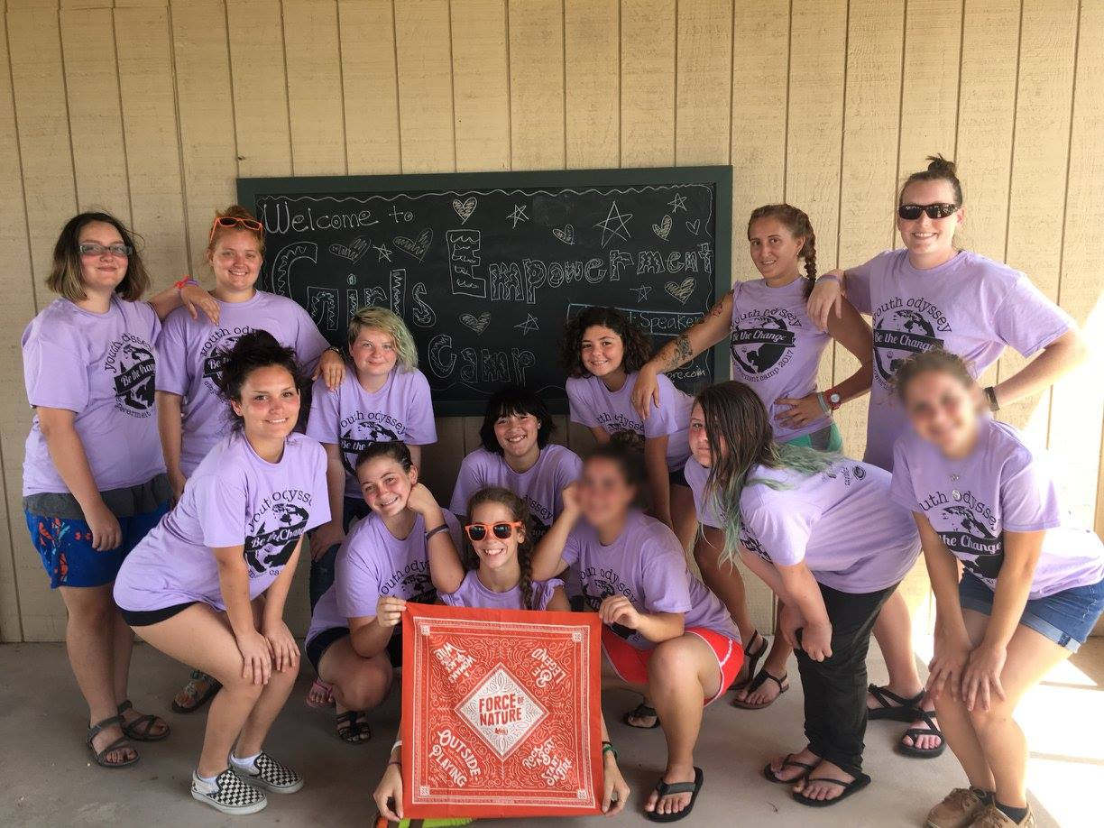 Kelsie with the Girl's Empowerment campers