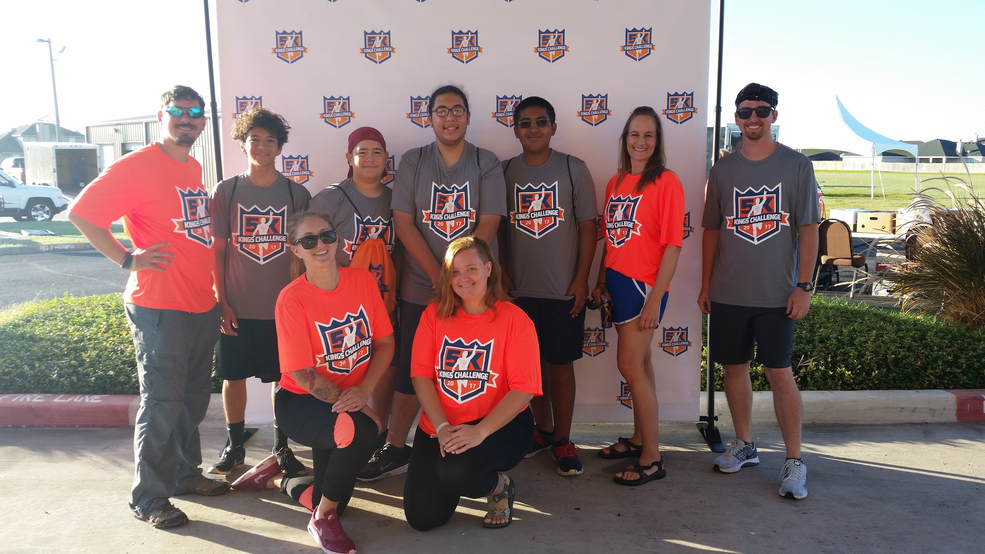 Youth Odyssey crew at the king's challenge 5k