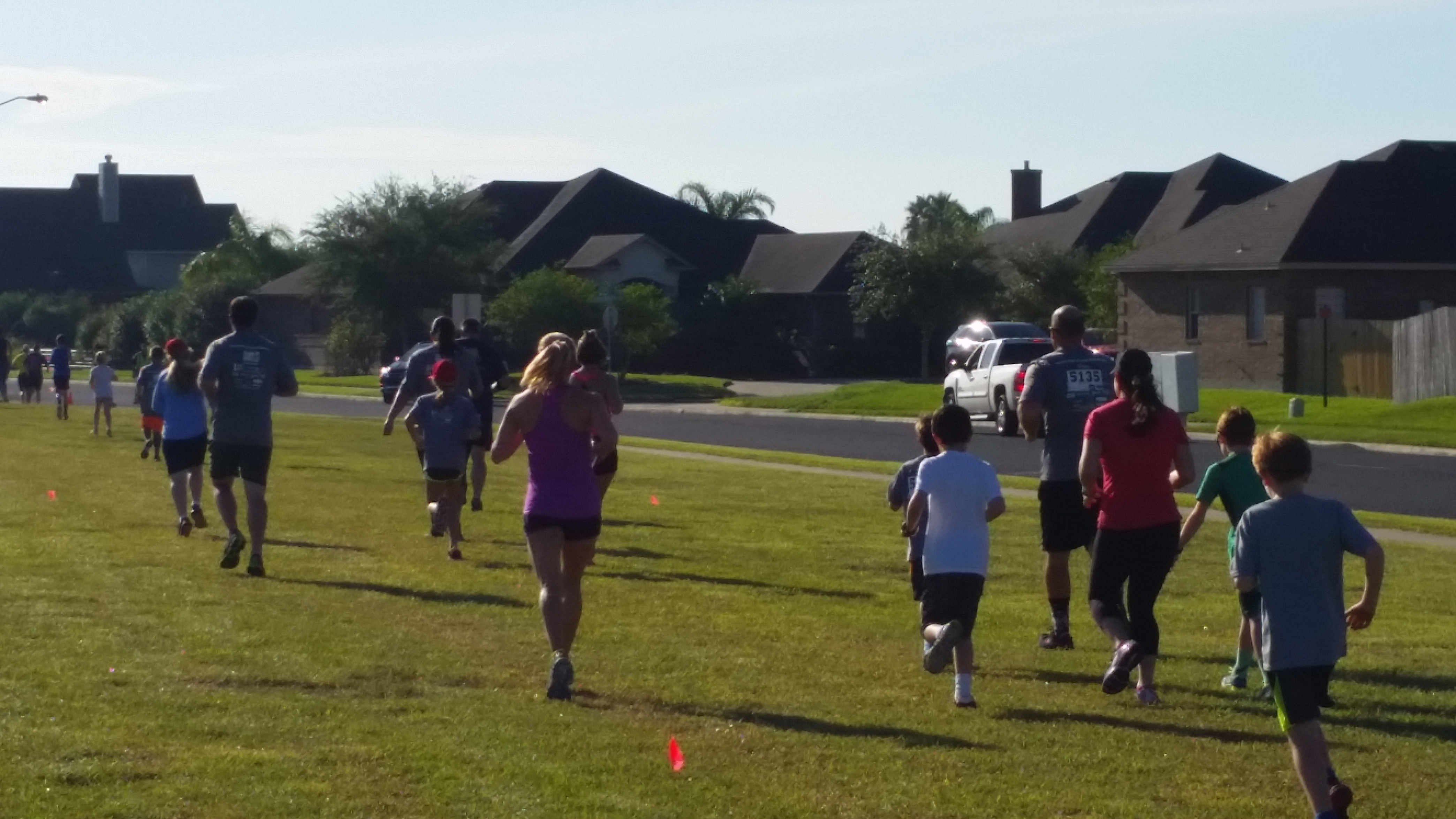 Runners at the king's challenge 5k
