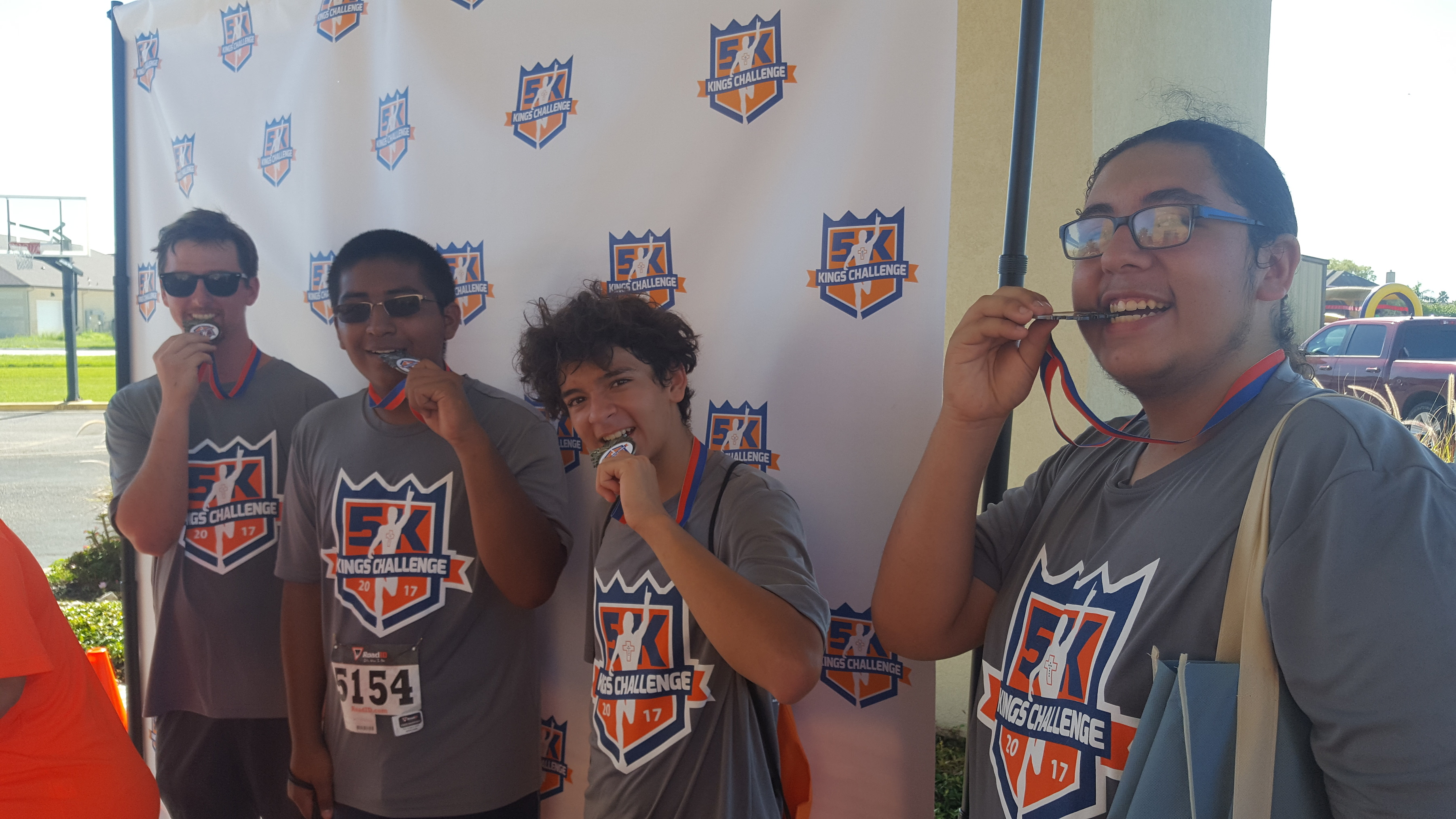 Youth Odyssey king's challenge 5k medal winners