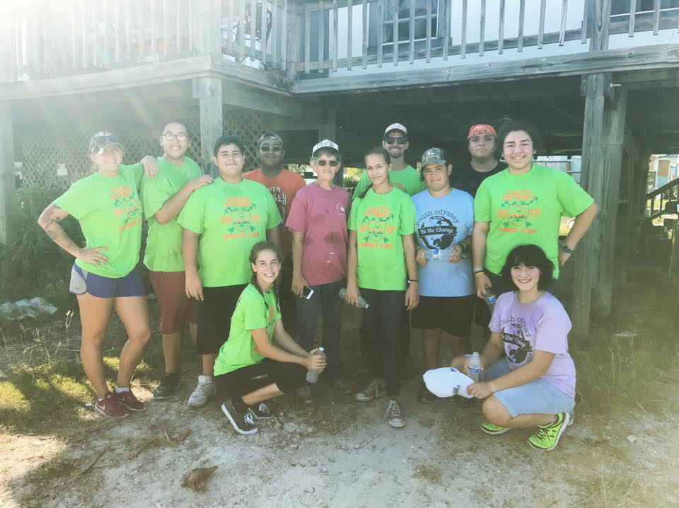 Hurricane Harvey Cleanup: youth leaders