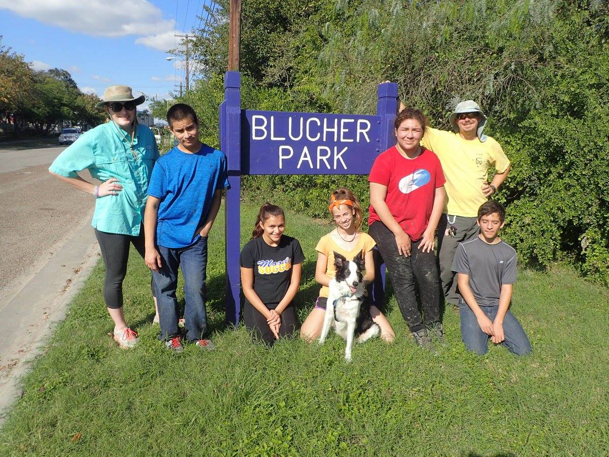 Brian at Blucher with Youth Leaders