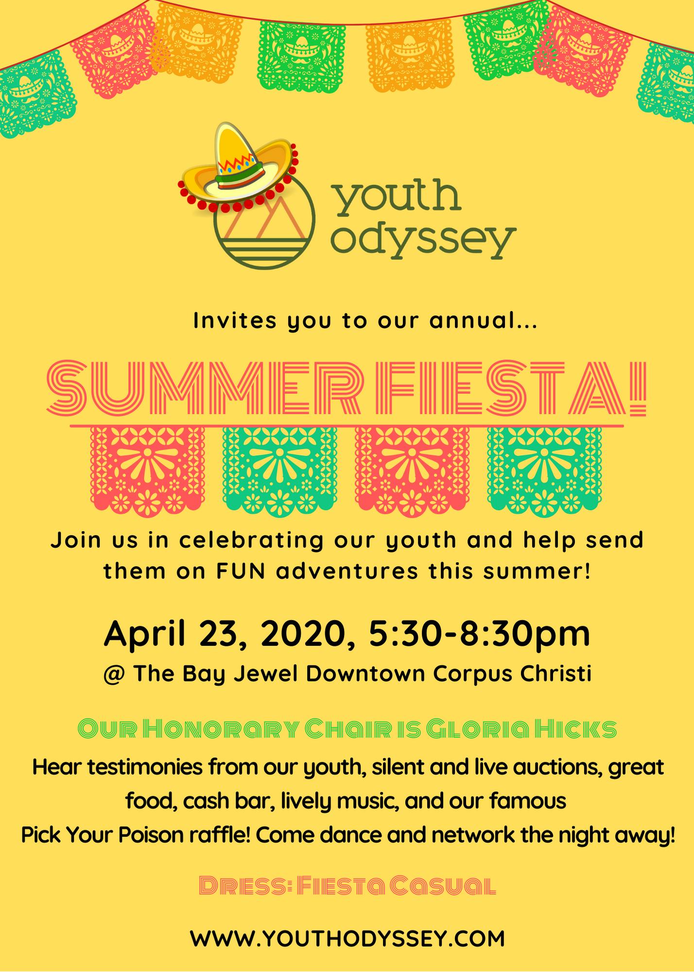 Summer Fiesta Flyer 2020